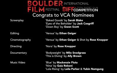 Boulder International Film Festival Teen Short Film Competition Nominees