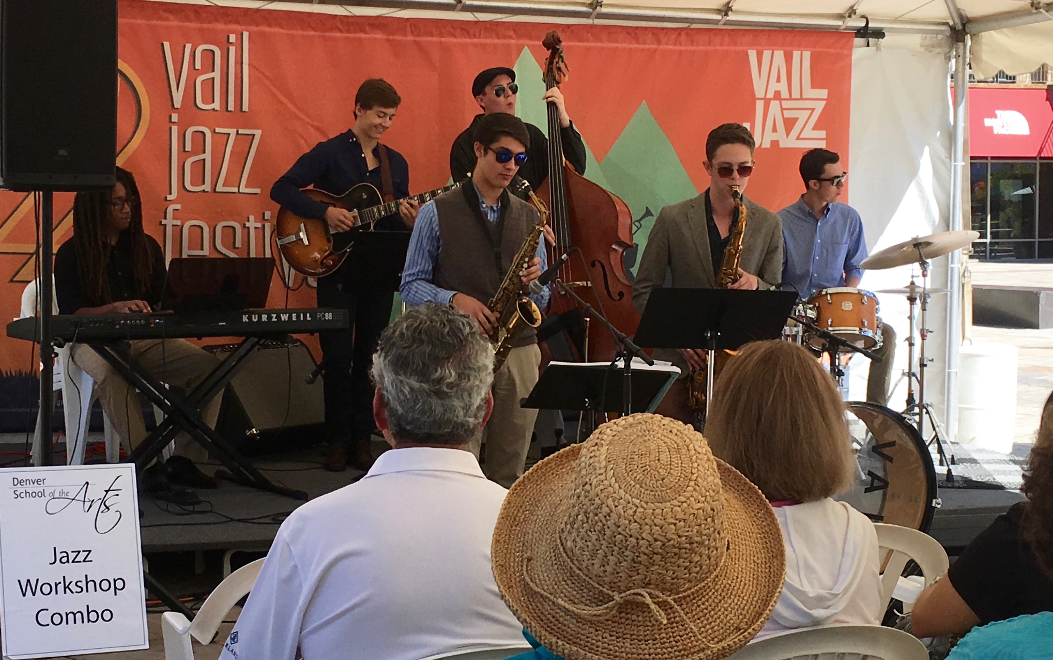 DSA JWO jazz Combo plays the Vail Jazz Festival.