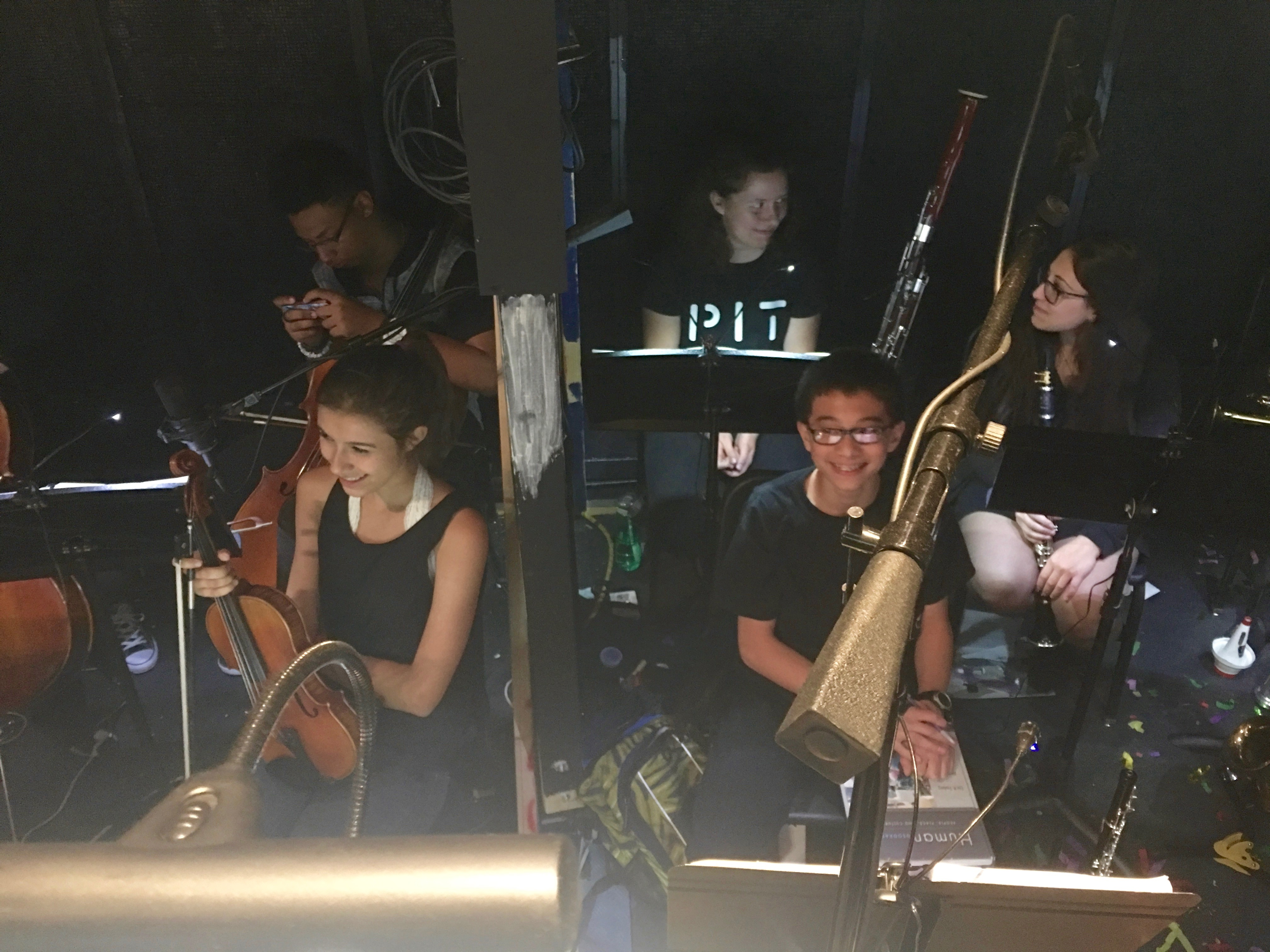 "The DSA Pit Orchestra readies for another great show when performing ""The Producers"".  The show was great and the Pit was fabulous!"