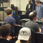 Osby plays with DSA jazz students.