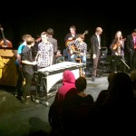 DSA jazz students jam on the last tune of the Symposium Combo night.