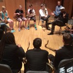 Symposium guest artist Greg Osby shares at the free saxophone clinic.