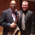 Dave Hammond with Symposium guest artist Greg Osby.
