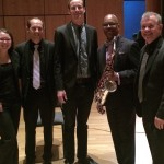 Directors in a post concert pic.  From left, Jamie Harrings, Grant Larson, Greg Harris, Greg Osby and Dave Hammond.
