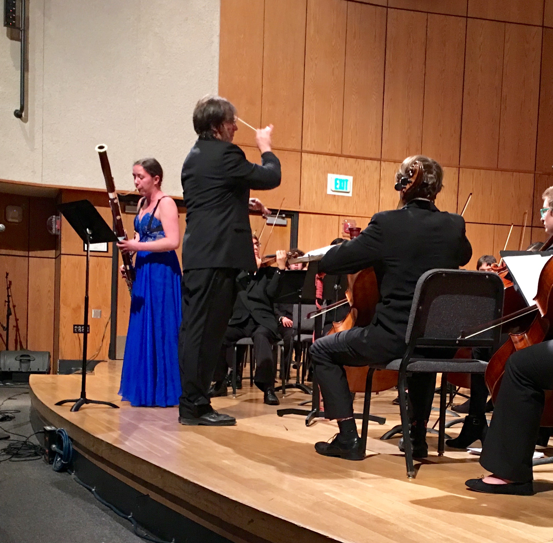 Tatia Slouka performs at the Concerto Concert 2/26/16.